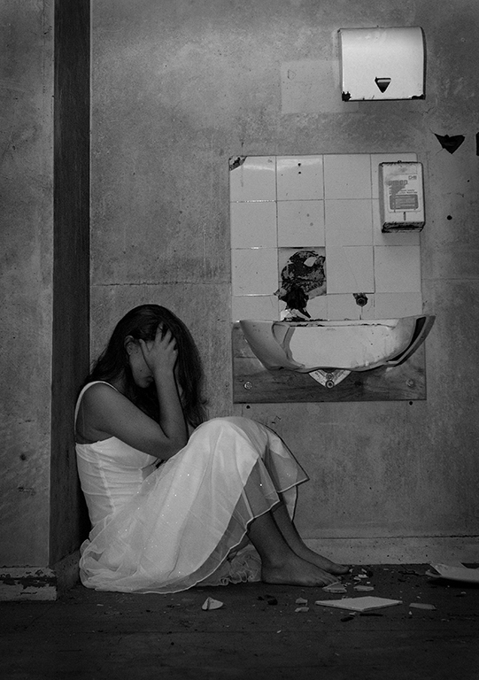 """2011 Open Monochrome Section """"Dejected Girl"""" by Martin Regan: Awarded SSNEP Silver Medal"""
