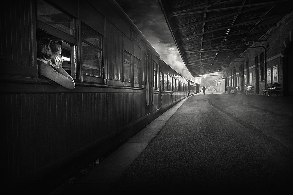 """2015 Open Monochrome Section """"The Station"""" by Adrian Donoghue: Awarded SSNEP Silver Medal"""