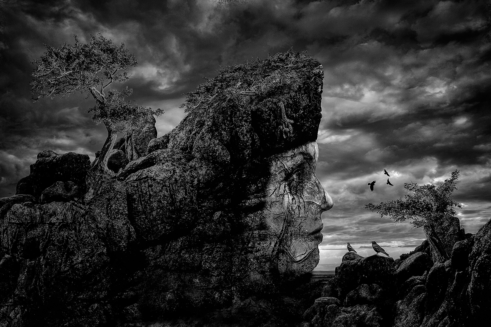 """2018 Creative Section """"Cliff Face"""" by Ketut Suwitra: Awarded APS Silver Medal"""