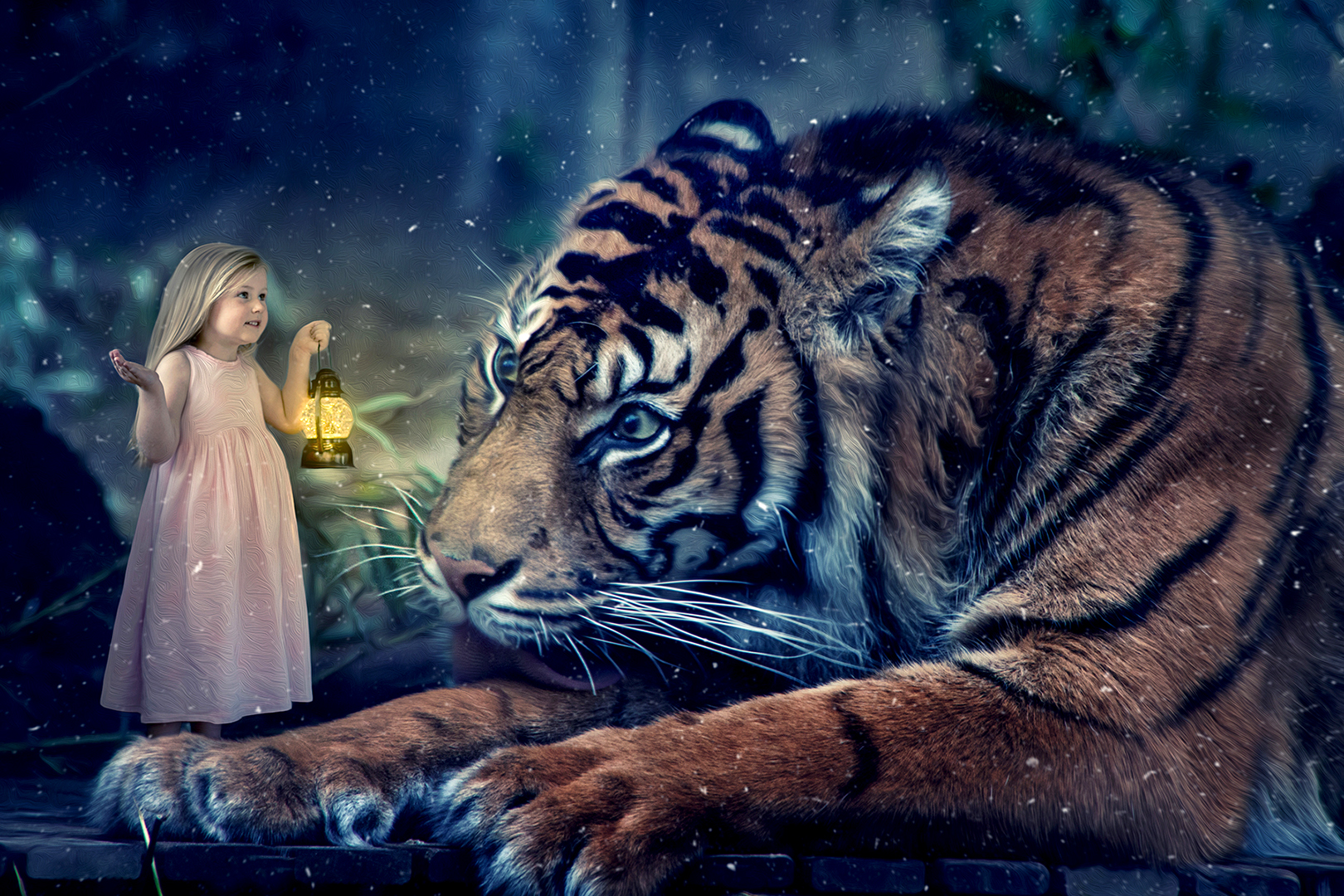 """2018 Creative Section """"Tiger Lilly"""" by Denise Perentin: Awarded SSNEP Silver Medal"""