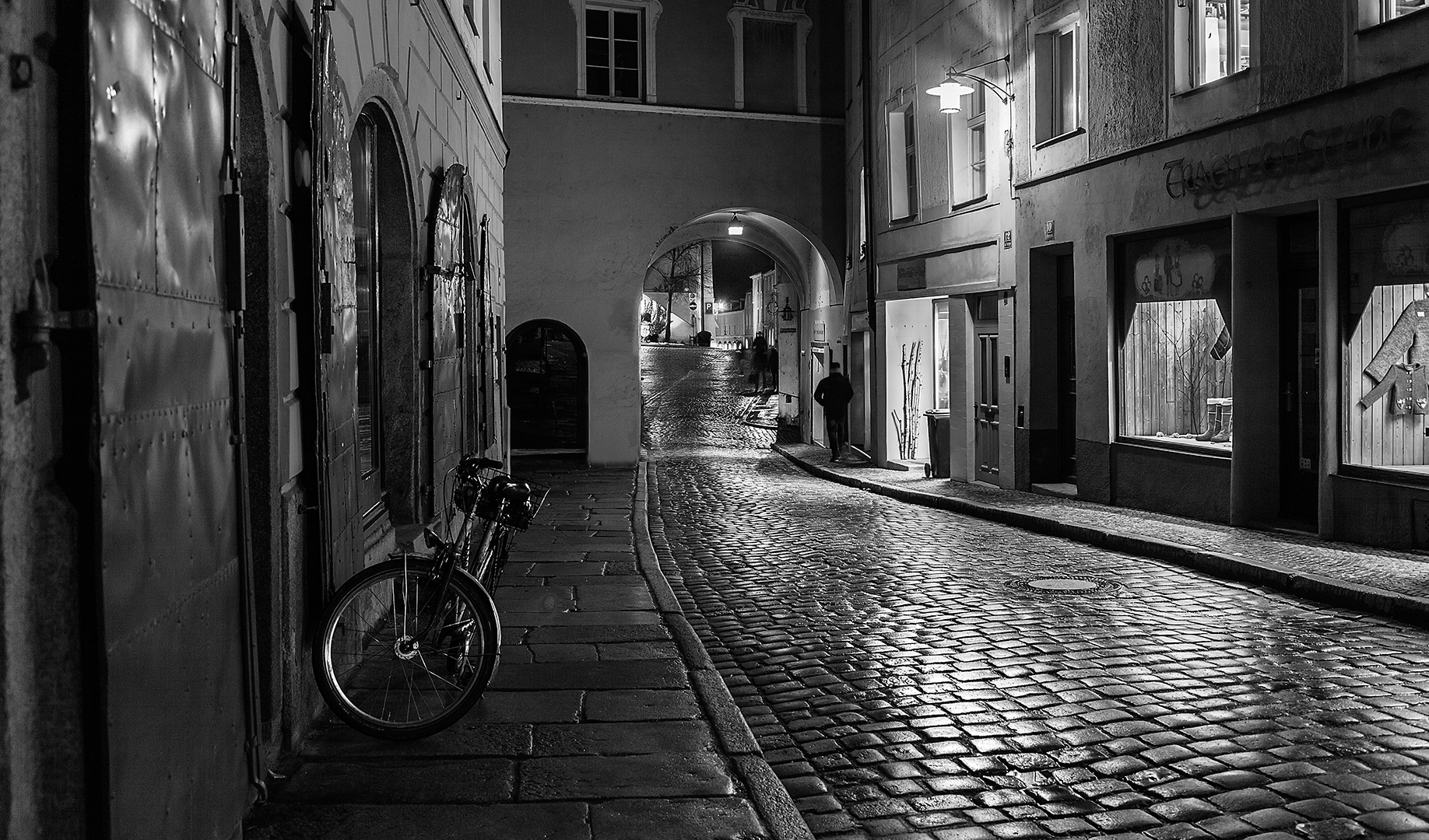 """2018 Open Monochrome Section """"Cobblestone Road"""" by John Murphy AAPS: Awarded APS Gold Medal"""