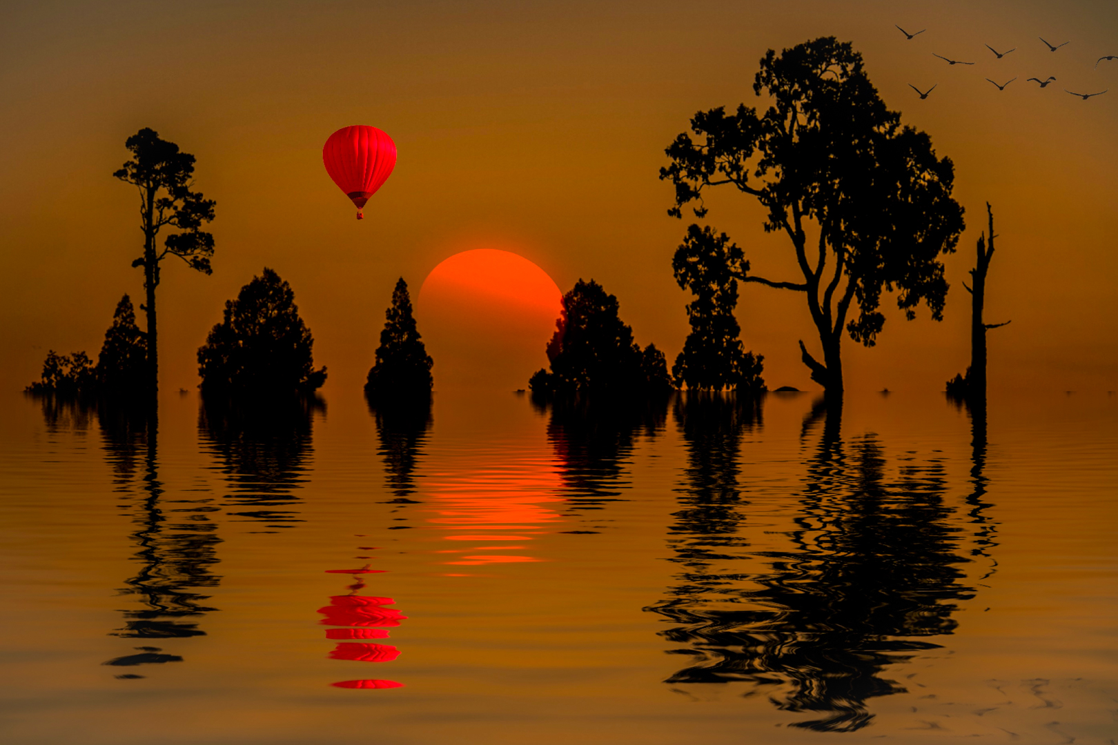 """2019 Creative Section """"Sunset Balloon"""" by Walter Shepherd: Awarded SSNEP Silver Medal"""