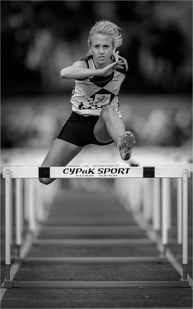 """2019 Open Monochrome Section """"Cypak Hurdler"""" by Stephan Labuschagne: Awarded APS Silver Medal"""